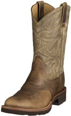 Ariat Mens Heritage Crepe Western Earth/brown Bomber Man-Made Boot 9.5 Ariat. $169.94