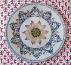 Mottahedeh Lotus Tin Plates for fancy picnics