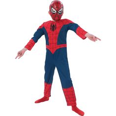 Ultimate Spider-Man Kids Muscle Chest Costume Childs halloween carinval fancy dress #Costume #Cosplay