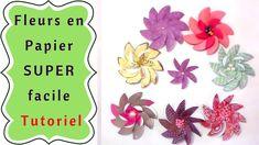 Comment Faire des Fleurs en Papier Simplement : Tutoriel - YouTube