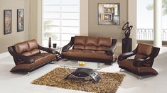 living room with brown couch tan and red - Google Search