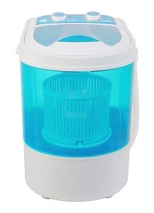 Bismi Mini Portable Washing Machine and Spin Dryer - Lightweight, large portable washing machine tub at 6.6 lb. capacity. Great for washing in small and compact spaces.