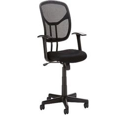 Home Office Desk Chair Mid Back Mesh Black Ergonomic Adjustable Set Height New…