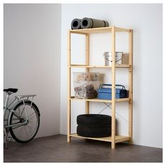 IVAR Shelving unit IKEA Untreated solid pine is a durable natural material that can be painted, oiled or stained according to preference. Ikea Ivar Regal, Pine Shelves, Glass Shelves, Ikea Family, Affordable Furniture, Solid Pine, Solid Wood, Panel Curtains, Modern Kitchens