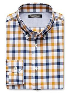 Tailored Slim-Fit Non-Iron Tri-Gingham Shirt