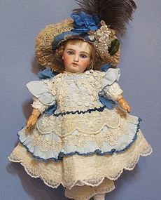 """French Bebe Dress Costume~13"""" Antique French Doll (item #1275032)"""