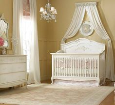 Dolce Babi Angelina 2 Piece Nursery Set In French Vanilla Crib Double Dresser