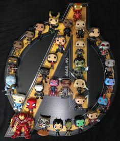 trendy pop art superhero marvel the avengers Marvel Room, Marvel Fan, Marvel Dc Comics, Marvel Heroes, Die Avengers, Funko Pop Display, Funko Pop Marvel, Loki Funko Pop, Marvel Pop Vinyl