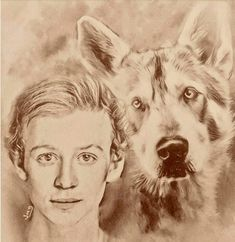 Young Ian and Rollo by Jamie McDougall John Bell, Illustrations, Outlander, Sam Heughan, Painting, Films, Art, Books, Movies