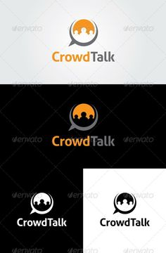 Crowd Talk  Logo Template — Vector EPS #crowd #speak • Available here → https://graphicriver.net/item/crowd-talk-logo-template/6511047?ref=pxcr