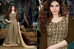 Hit series With zarin Khan  roles colours Fabrics Top:- Faux gorgette long suit with net  With heavy embrodery Bottom:- Hevy santoon  Inner:- Hevy Santoon Dupatta:- Heavy najmin Design:- total 2 disins 8 colours  Singles Rs.1595 each Ready to ship book now. For more details and order ping us on sbtrendz@gmail.com or Whatsapp 91 9495188412; Visit us on http://ift.tt/1pWe0HD or http://ift.tt/1NbeyrT to see more ethnic collections. #Lehenga #Gown #Kurti #SalwarSuit #Saree #ChiffonSaree…