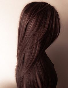 This chocolate brown hair with some subtle gold highlights is perfect