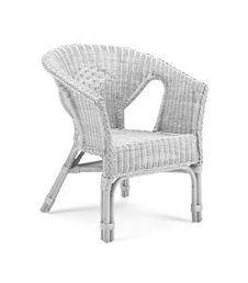 Alabama Occasional Wicker Chair White