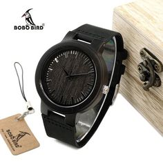 EBay  Bobo Bird Wc27 Men S Design Luxury Wooden Bamboo Watches With Real  Leather Quartz 2039be95e0be