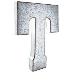 Large Metal Letter R R Large Galvanized Metal Letter  Matt Routzan  Pinterest  Metal