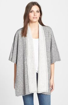 Eileen+Fisher+Shawl+Collar+Cape+Sleeve+Cardigan+available+at+#Nordstrom