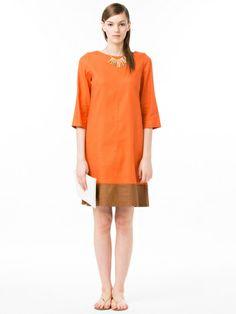 Modify - Bi-color three-quarter sleeve dress