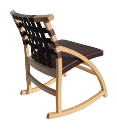 Equalibrium Chair: Ply Bent, Seat Belt Back, Fabric Seat. Design By