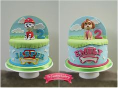 Paw Patrol Double Sided Cake by The Custom Cakery Skye Paw Patrol Cake, Torta Paw Patrol, Paw Patrol Cake Toppers, Paw Patrol Party, Paw Patrol Birthday, Cake Decorating Supplies, Cake Decorating Tutorials, Decorating Ideas, Pastel Paw Patrol