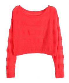 Short-Length Pullover with Woven Stripe - Knitwear - Clothing