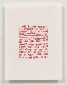 Emily Barletta, Untitled (Square 1) 2010 thread on paper