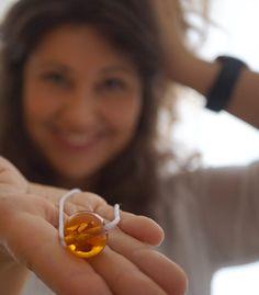 'Pureness' – Glasperlenkette, schlicht und elegant  Simple necklace   Handblown glass   eShop: www.melaniemoertel.com €29.00