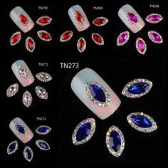 10pcs 3D Metal Alloy Nail Art Decorations Glitter Rhinestone Jewelry Nail Supply