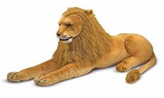 Giant Lion by Melissa & Doug - every nursery needs a giant stuffed animal! (Little Crown Interiors)