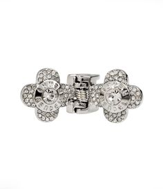Petal Crystal Clip, Silver Hair Accessories | Henri Bendel
