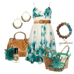 Sundress, created by cynthia335 on Polyvore
