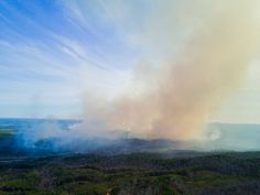 """When I was originally first time driving to Cheaha State Park to check in for camping I pulled in at a """"Scenic Overlook"""" to get the Mavic out to get photos & videos of this. I swear I thought the state park was on fire. Not knowing any better I feared the worst. Luckily as I approached I realized I would drive by it by only about a mile or two and my campground was safe. Luckily it rained all day a few days later. Phew!. . . . . . . . #fire #smoke #forest #ForestFire #mountain #MountainTop…"""