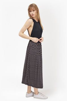 Bancongo Dot Printed Maxi Dress | Collections | French Connection Usa
