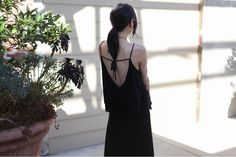 maxi dress.  love the back.  Mikkat Market