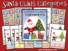 Givaway Time Again! FREE Santa Clause Categories! « Live Speak Love, LLC