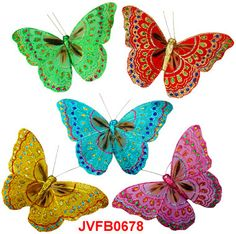 The assorted Iridescent Glitter artificial butterflies are the elaborately handcrafted butterflies with exquisite design.Beautiful Feather Butterflies in assorted colors and sizes! Artifical Butterflies-Decorative Butterflies-Fake Butterflies-Floral Crafts.