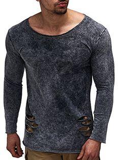 eb0ae4f7a76c Amazon LEIF NELSON Herren Pullover Hoodie Sweatshirt Longsleeve Rundhals  Langarmshirt Top Basic Shirt Crew Neck Vintage LN06263 S-XXL  Größe S,  Anthrazit