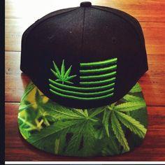 Stoner Weed Flag Snapback by dayoneluxury on Etsy