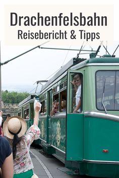 Mit der Drachenfelsbahn zum Gipfel des Glücks. Reisebericht und Reisetipps für einen Ausflug mit der Drachenfelsbahn ab Königswinter. *klick* #zugreise #abenteuer Places, Travel, Exotic Places, Holiday Travel, Family Vacations, Travel Report, Viajes, Destinations, Traveling
