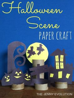 DIY Decorative Halloween Paper Craft - Fun for the whole family!