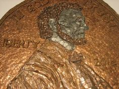 Ted Stanke - Giant penny made from actual pennies, 2011