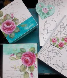 #rosas #roses #vintage #deco #home #working #painting #art #arte #handmade #friday #colorful #followme #elportonrojo Tole Painting Patterns, Decoupage Box, Arte Floral, Easy Paintings, Vintage Wood, Diy And Crafts, Hand Painted, Painting Art, Drawings