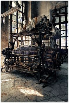 "I don't know where this ""abandoned textile factory"" is. I have checked the first 4 board pages and it hasn't been repinned, so hopefully it doesn't appear anywhere. I love it. S"