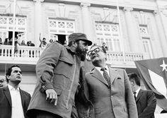 Salvador Allende y Fidel Castro