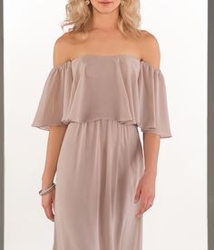 Womens Strapless A Line Chiffon Bridesmaid Dress Sexy Off Shoulder Wedding Party Gown with Sleeves Light Blush * Be certain to take a look at this awesome product. (This is an affiliate link). Wedding Evening Gown, Evening Gowns, Gowns With Sleeves, Party Gowns, Sexy Dresses, Strapless Dress, Image Link, Chiffon, Blush
