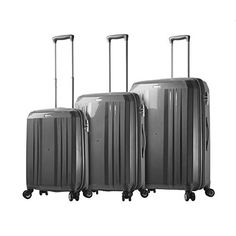 Luggage Sets Collections | Mia Toro Italy M1227CHA Duaturo Hardside Spinner 3pc Luggage Suitcase Charcoal -- Check out the image by visiting the link. Note:It is Affiliate Link to Amazon.