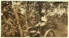 Rural Accident. Twelve-year old Clinton Stewart and his mowing machine which cut off his hand. in early 1900s America. This photo series, archived by the Library of Congress, shows what conditions were like for child laborers before child labor was largely eliminated in 1938.