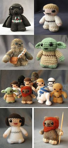 We have rounded up some geeky mini crochet Star Wars figures.