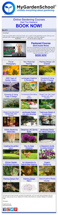 MyGardenSchool Online #Gardening Courses Start This Weekend....BOOK NOW! http://conta.cc/11urOQ3