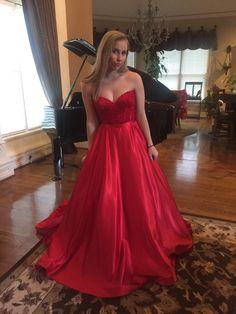 Sweetheart Long Charming Prom Dresses, Floor-Length Evening Dresses,Prom Dresses,SC53