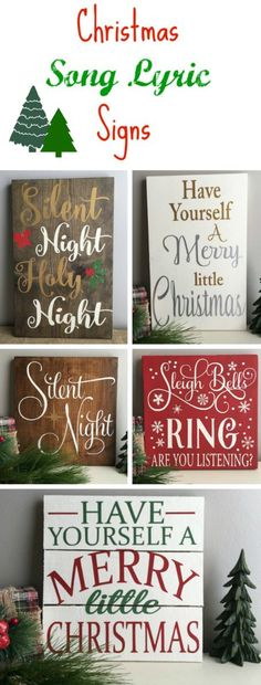 I LOVE these Christmas song lyric signs! They are perfect to bring some holiday cheer into your home! I just love Christmas music!! #christmas #ad #DIYHomeDecorChristmas